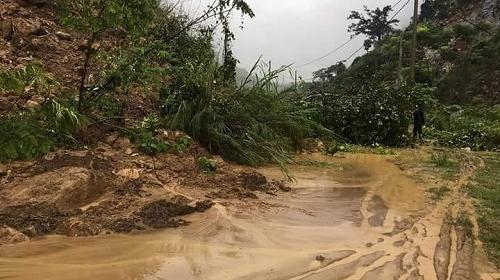 Sạt lở kinh hoàng do mưa lớn tại miền núi tỉnh Thanh Hóa